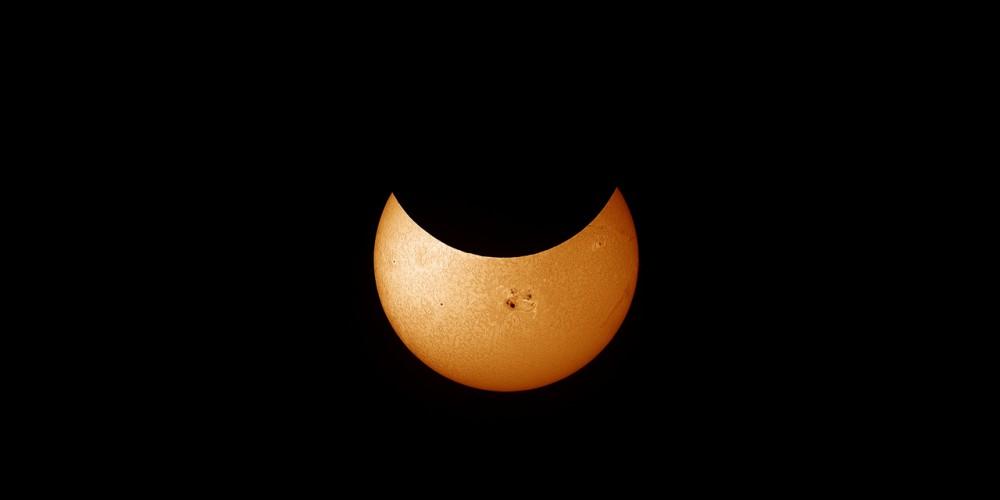 Sonnenfinsternis 2014 im H-Alpha-Licht